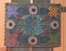 Load image into Gallery viewer, mini wool applique table topper quilt pattern