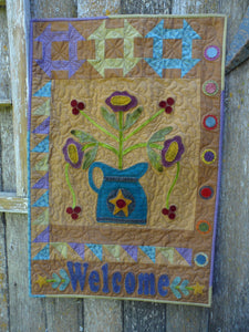 Bloomin' Time Wool Applique Quilt Pattern - PDF