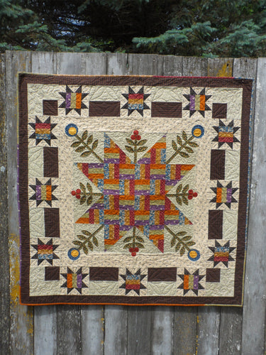Rail Fence Blooms Quilt Pattern - PDF