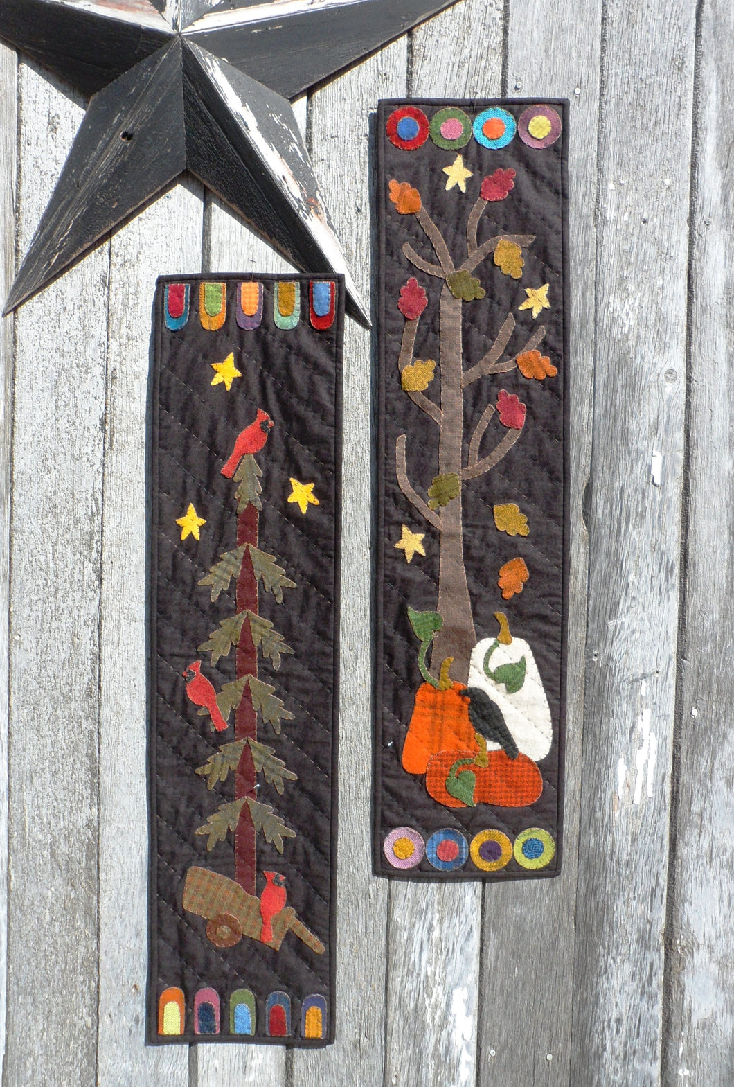 Banner Seasons Too Wool Applique Quilt Pattern