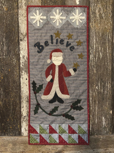 Believe Wool Applique Quilt Pattern