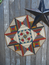 Load image into Gallery viewer, scrappy table topper quilt pattern with applique