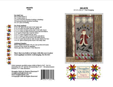 Load image into Gallery viewer, Believe Wool Applique Quilt Pattern - PDF