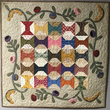 Load image into Gallery viewer, scrappy table topper with applique quilt pattern
