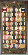 Load image into Gallery viewer, scrappy table runner with applique quilt pattern
