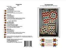 Load image into Gallery viewer, patriotic and scrappy table runner table topper quilt pattern