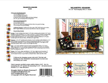 Load image into Gallery viewer, seasonal wool applique on fabric quilt pattern