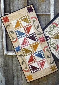 Scrappy applique table runner and topper quilt pattern