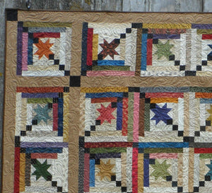 Quilt pattern for a scrappy lap quilt fat friendly