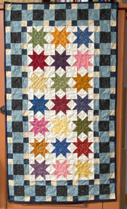 Central Park scrappy table runner pattern designed by Deanne Eisenman for Snuggles Quilts