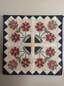 winter Christmas wall hanging table topper applique quilt pattern