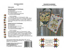 Load image into Gallery viewer, Season's Blessings Wool Applique Quilt Pattern