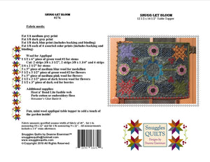 mini wool applique table topper quilt pattern