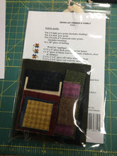 Load image into Gallery viewer, Wool applique on fabric mini wall hanging kit with wool only