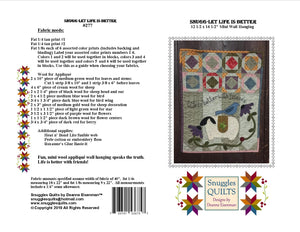 mini wool applique wall hanging quilt pattern