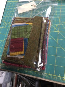 fabric and wool kit for mini Snugg-let wool applique pattern