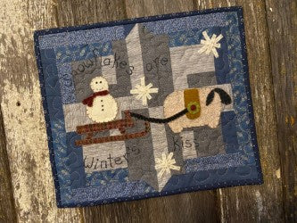 Snugg-let Winter's Kiss - Mini Wool Applique Pattern