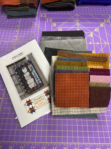 Stack O' Sheep Wool Applique Quilt Pattern & Kit