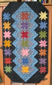 Dream Catcher scrappy table runner quilts pattern by Deanne Eisenman for Snuggles Quilts