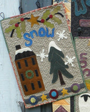 Load image into Gallery viewer, Wool applique on fabric wall hanging quilt pattern