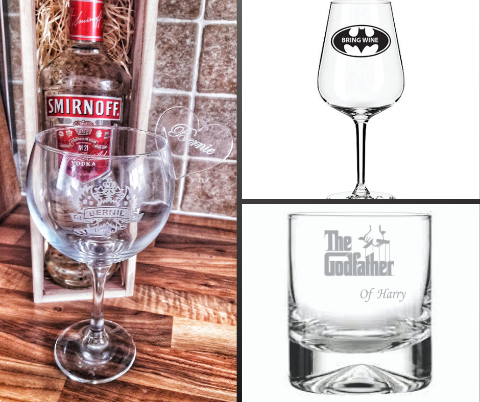 Engraved Wine Glass Engraved Whisky Tumbler Engraved Cocktail Glass Personalised Glasses
