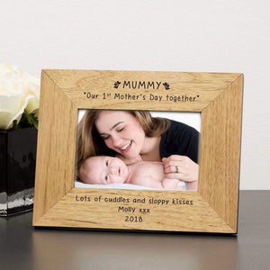 1st Mother's Day Engraved Picture Frame Mothers Day Gift Engraved Mothers Day Gift Personalised Mothers Day Gift