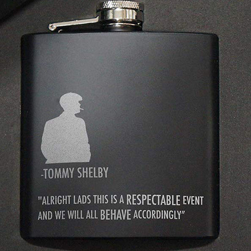 Peaky Blinders Engraved Hip Flask
