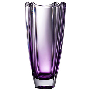 Amethyst Crystal Galway Crystal Vase Wedding Engraved Crystal Vase