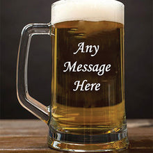 Load image into Gallery viewer, Engraved Beer Tankard Personalised Beer Tankard Any Message Here Engraved Beer Tankard