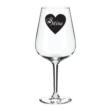 Load image into Gallery viewer, B Mine Valentines Engraved Wine Glass
