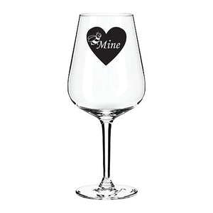 Engraved Wine Glass Personalised Wine Glass Customised Wine Glass Any Message Here Engraved Wine Glass