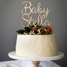 Load image into Gallery viewer, Baby Name Cake Topper