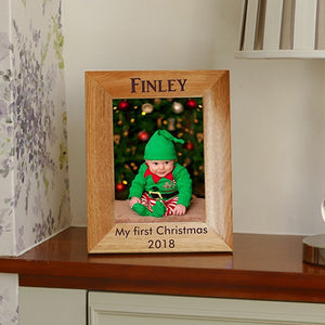 Personalised Photo Frame Personalised Christmas Photo Frame