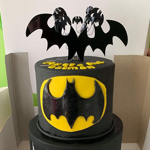 Bat Man Themed  Birthday Cake Topper