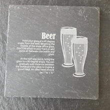 Load image into Gallery viewer, Beer Slate Coaster Customised Coaster Personalised Coaster Engraved Slate
