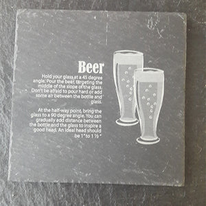Beer Slate Coaster Customised Coaster Personalised Coaster Engraved Slate