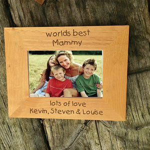 Worlds Best Mammy Personalised Wooden Photo Frame