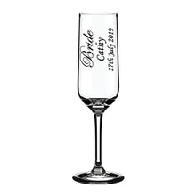Load image into Gallery viewer, Engraved Champagne Flute