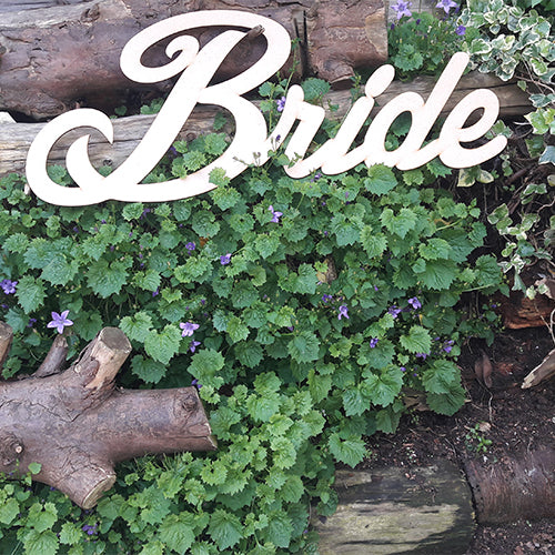 Bride Sign Customised Wooden Bride Sign Bride Back Drop Wooden Sign