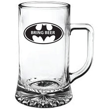 Load image into Gallery viewer, Bat Man Themed Bring Beer Engraved Beer Tankard