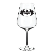 Load image into Gallery viewer, Bring Wine Engraved Wine Glass Engraved Wine Glass Personalised Wine Glass Customised Wine Glass Any Message Here Wine Glass