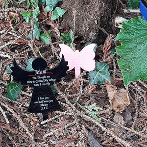 Personalised Memorial Angel Grave Marker