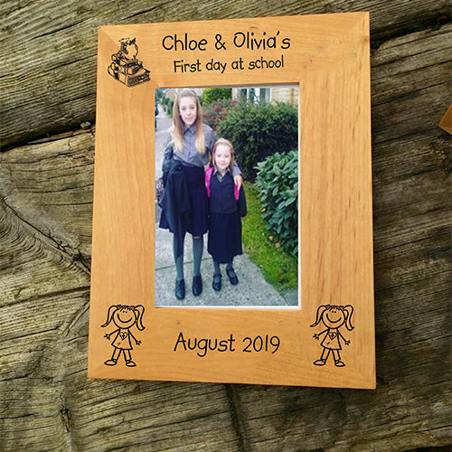 Personalised First Day of School Photo Frame Engraved First Day of School Photo Frame