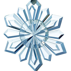 Snowflake Galway Crystal Christmas Decoration Hanging Ornament