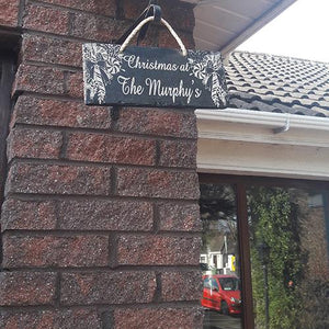 Christmas Decoration Engraved Christmas Sign Slate Sign