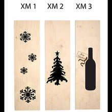 Load image into Gallery viewer, Christmas Themed Wine Box