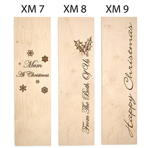 Christmas Themed Engraved Wine Box