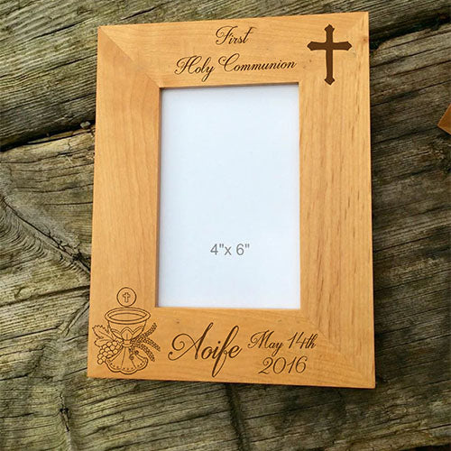 1st Holy Communion Engraved Picture Frame Personalised Photo Frame Customised Photo Frame First Holy Communion Photo Frame