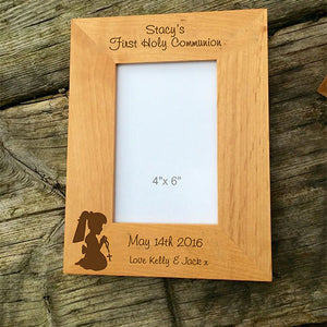 First Holy Communion  Girls First Holy Communion Photo Frame Engraved Photo Frame For First Holy Communion Personalised Holy Communion Frame Engraved Holy Communion Photo Frame