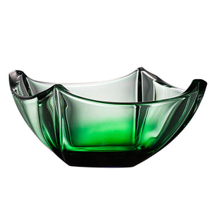 "Galway Crystal Emerald Dune Square 10"" Bowl"